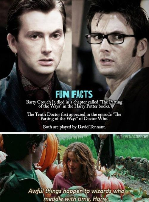 """When two worlds collide. Doctor Who and Harry Potter - """"The  Parting of the Ways"""". Too perfect to be a coincidence."""