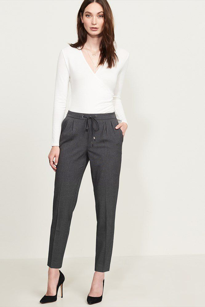 Dressing for work has never been this simple.  Pinstripe Workwear Jogger