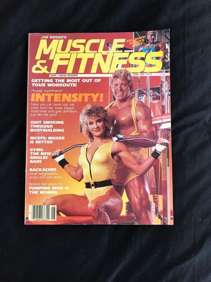 Joe Weider's Muscle & Fitness Magazine Intensity June 1985 80s Graphics Galore!