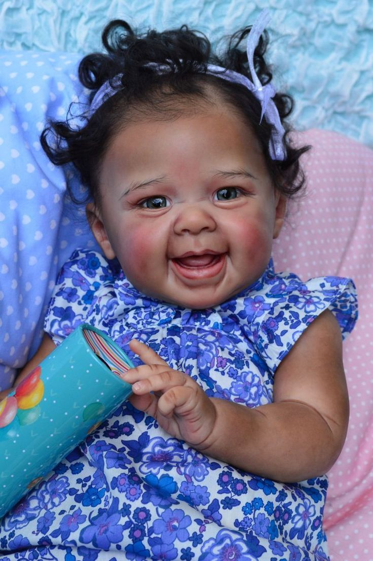 """Reborn Baby Girl Biracial Ethnic """" Lucia """" from Kit Maizie by Andrea Arcello 