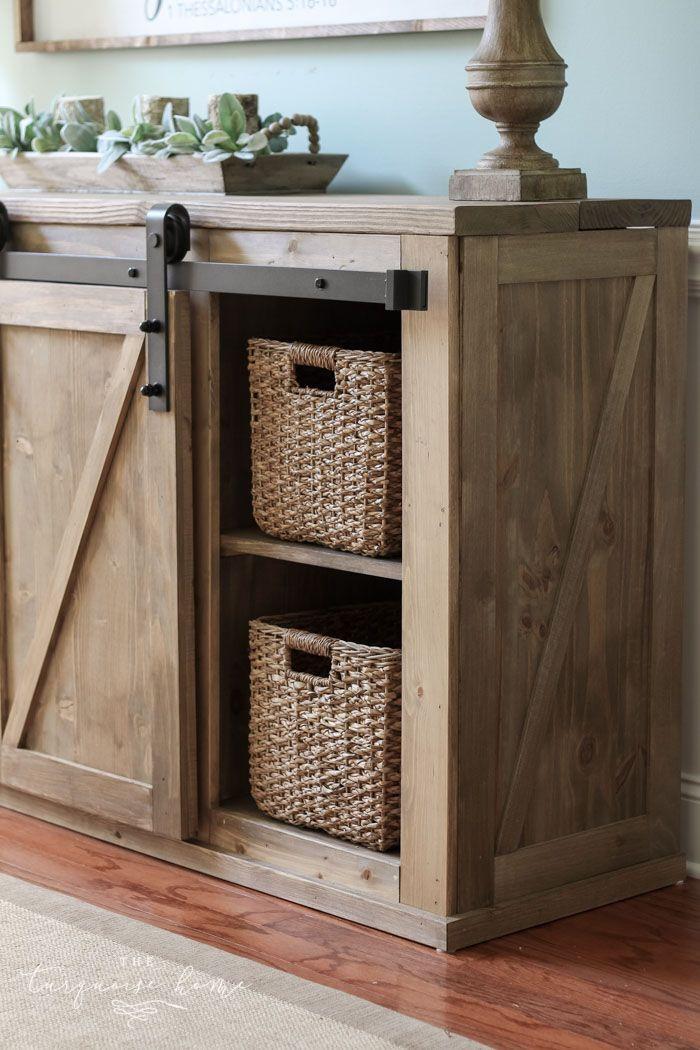 diy farmhouse media console table furniture refinishing antiquing rh pinterest com