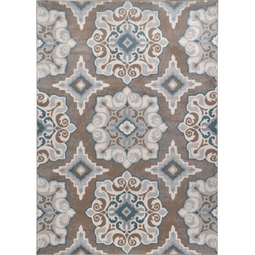 """Found it at Wayfair - Natural Taupe & Teal Area Rug 39 """" x ^62"""" for wall hanging"""