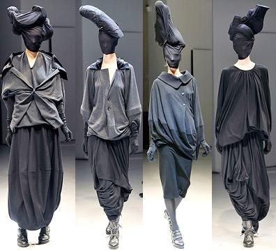 Diamond Bones: practical clothing that would not get ruined by dust and wind Junya Watanabe