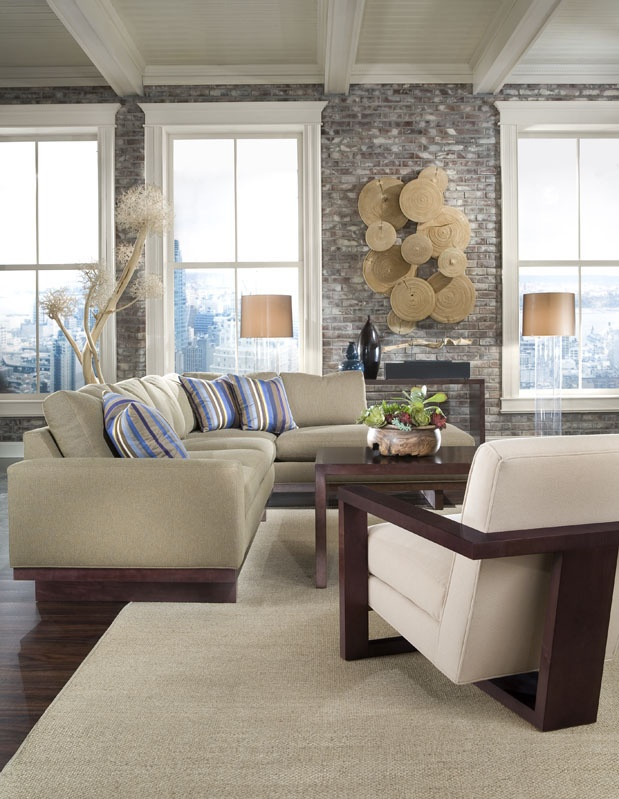 Studio MB Sectional With Roger Lounge Chair And Studio MB Table From Thayer  Coggin Furniture.