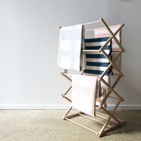 • PRE-ORDER • Folding Wooden Clothes Horse