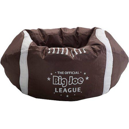 Big Joe Football Bean Bag, Brown