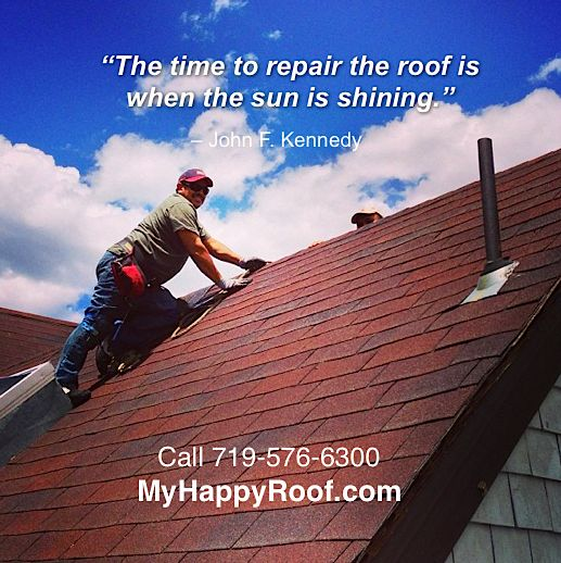 Http://www.myhappyroof.com #ColoradoSprings #roofing #colorado #