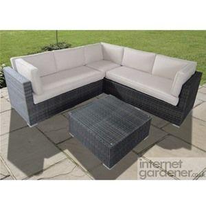 Maze Rattan Porto Corner Garden Sofa is a smaller rattan corner sofa, ideal for the small garden.