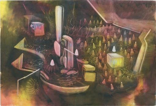 "oil on canvas, 6' 6-3/8"" x 9' 6-5/8"" (199.1 cm x 291.1 cm), 1974"