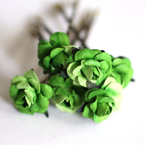 Shamrock Rose Wedding Hair Accessories Bridal Hair by JewelryByJLy, $20.00