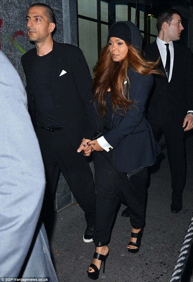 Still gong strong: Janet Jackson was seen holding husband Wissam Al Mana's hand at the Arm...