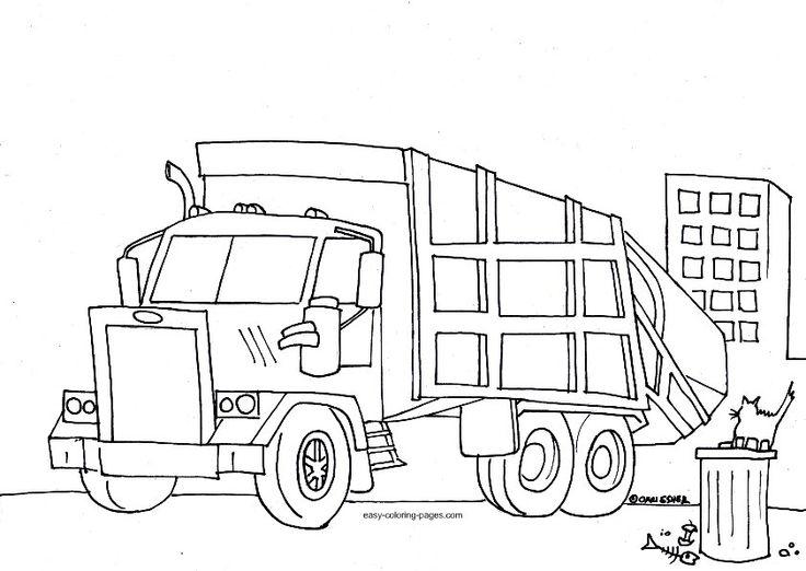 Trash Truck Wenn Du Mal Buch Malvorlagen Fur Kinder Mullauto