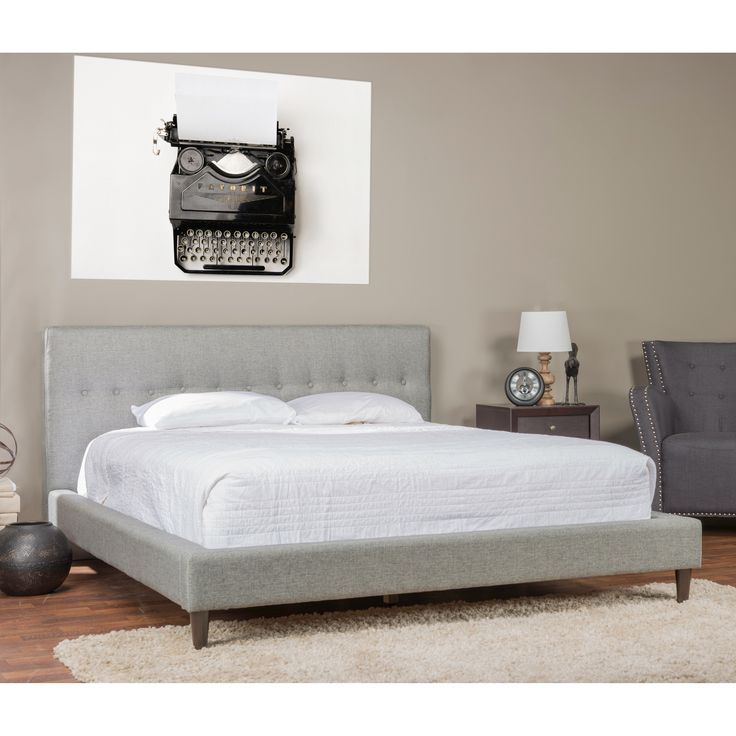 Baxton Studio Callasandra Upholstered Platform Bed - A little bit mod, a little mid-century, and totally stylish for your space, the Baxton Studio Callasandra Upholstered Platform Bed will...