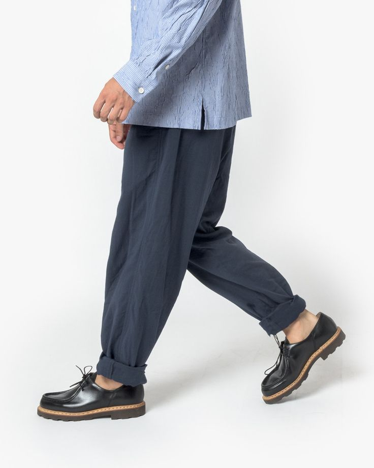Pleated Trouser in Navy by Issey Miyake Man