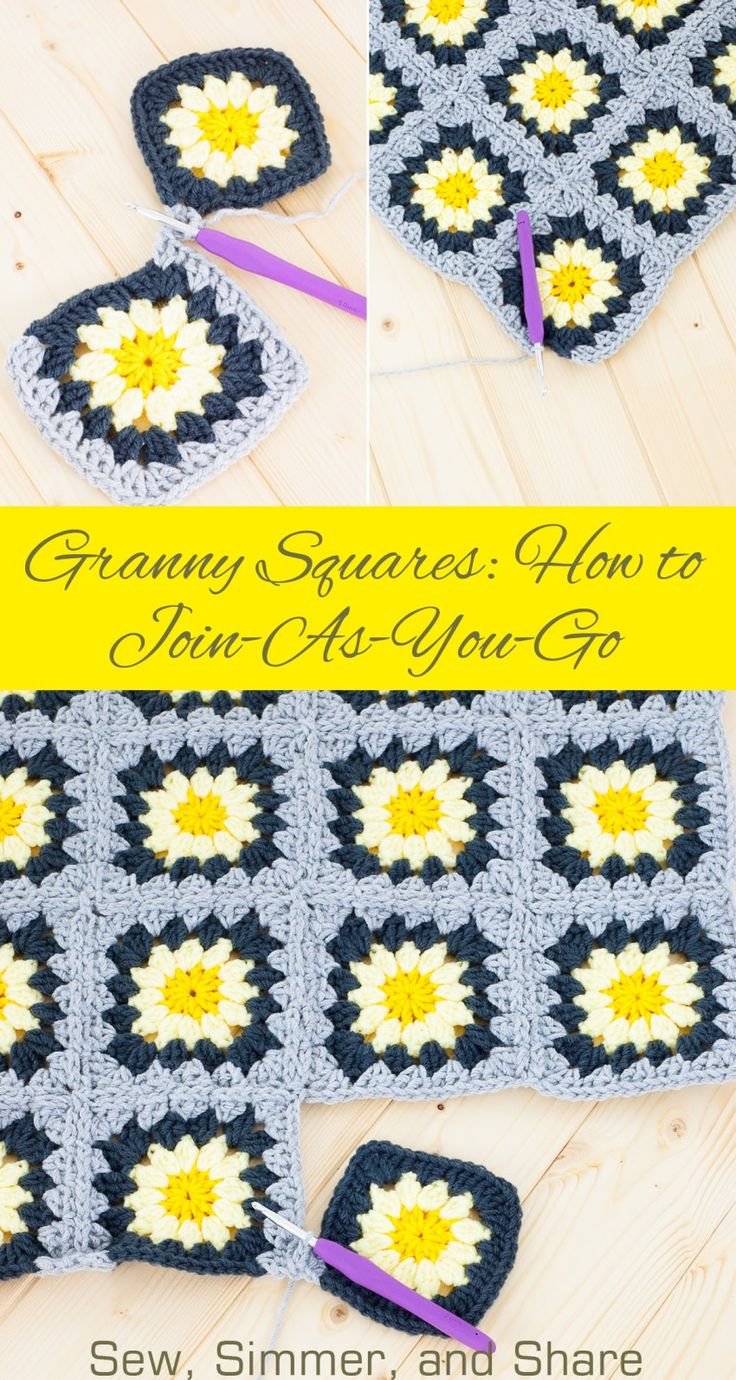 Granny Squares: How To Joinasyougo