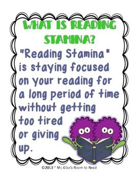 Building Reading Stamina Visuals