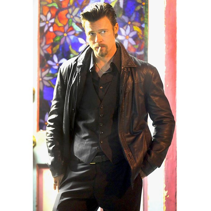Killing Them Softly Brad Pitt Leather Jacket Now Available in our Store.