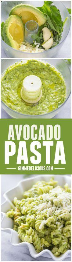 The Best Avocado Pasta