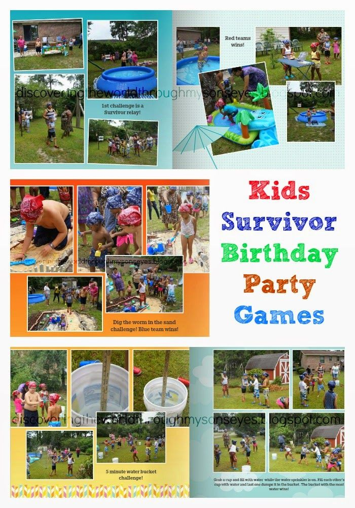 Discovering The World Through My Son's Eyes: Kids Survivor Birthday Party Games