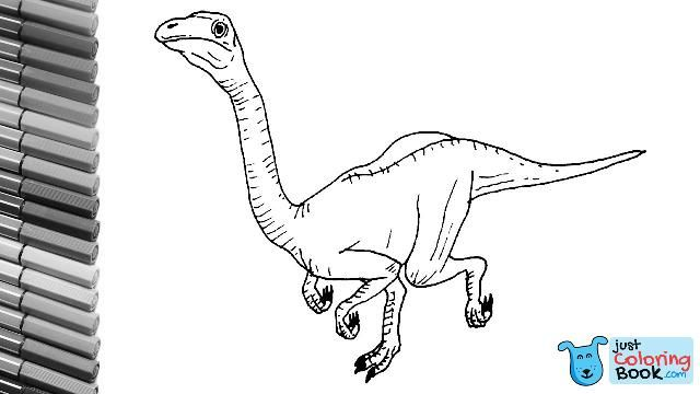 How To Draw New Dinosaurs The Struthiomimus From Jurassic World
