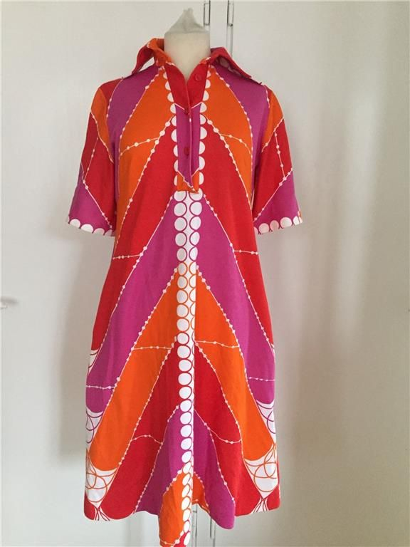 Annons på Tradera: Fantastisk klänning i jersey Maud Fredin Fredholm Vintage Retro