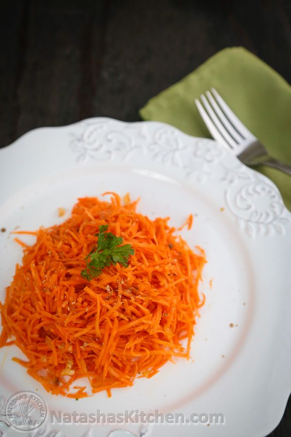 This is a staple at church potlucks. It's a simple salad with one main ingredient: carrot. This salad is often made with loads of garlic, which is overpowering, but not this recipe! This is Mom's recipe and my husband really prefers this version. This is also referred...