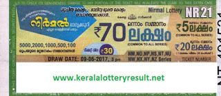 Nirmal Lottery NR-23 Results 23-6-2017
