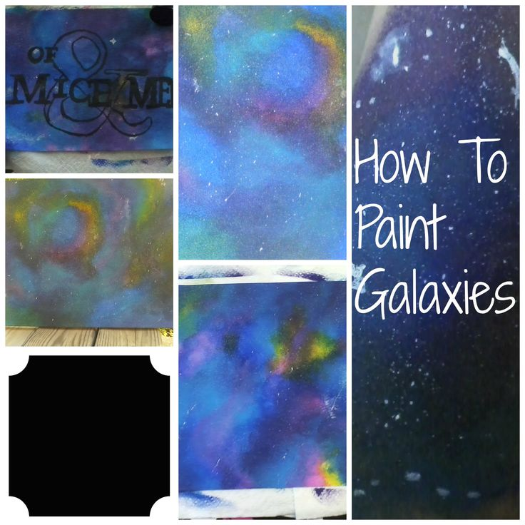 Galaxy painting tutorial acrylic the for How to paint galaxy