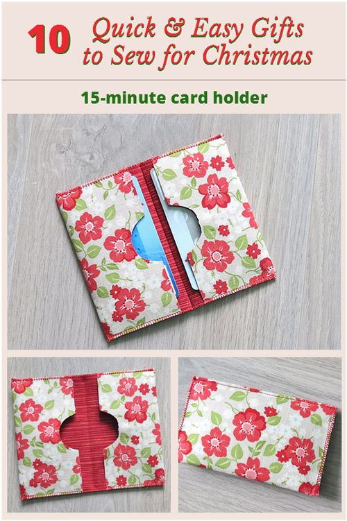fun quick and easy little project a card holder sew pinterest sewing sewing projects and gifts