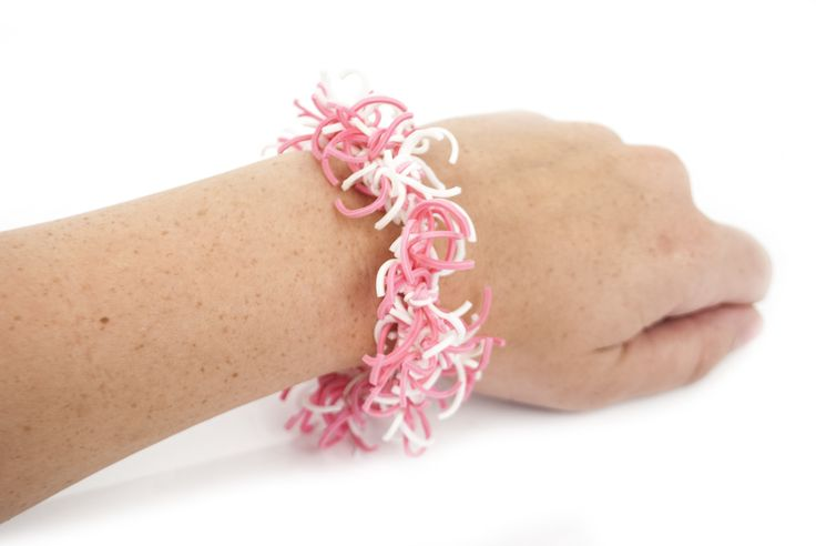 Not absolutely pink breast cancer band bracelets