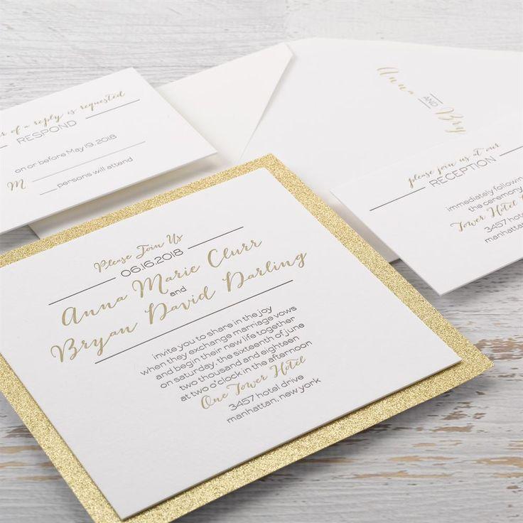 Bold u0026 Gold Letterpress Invitation Formal