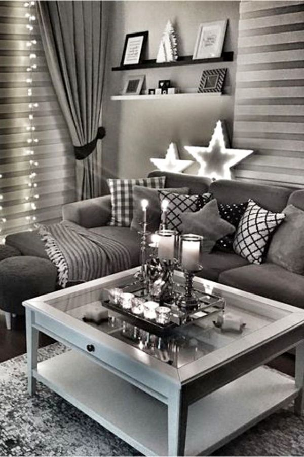 Planning A New Years Decor Is Not An Easy Task But Here Are The Best Colors Dark Walls Living Room Dark Grey Living Room Dark Living Rooms