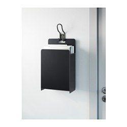 IKEA - РИССЛА, Корзина для бумаг, Можно поставить на плоскую поверхность или повесить на стену.