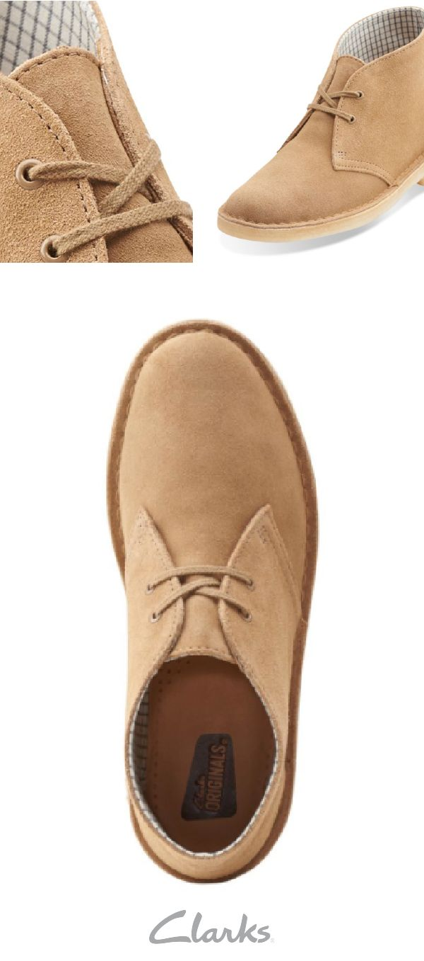 An international classic, Clarks Desert Boot for women has a vintage yet versatile style that will go with anything in your closet. This lace-up boot is made with high-quality Oakwood Suede and is a chic style that is perfect to wear when exploring the city.