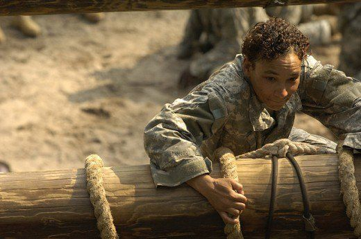 A U.S. Army private during Basic Combat Training.