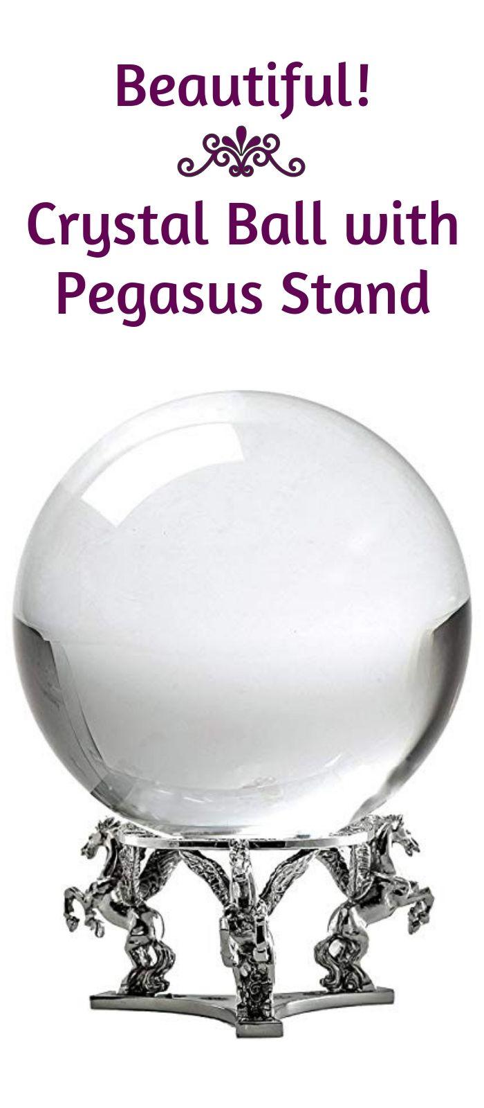 Crystal Ball Divination Pegasus Stand Quartz Crystal