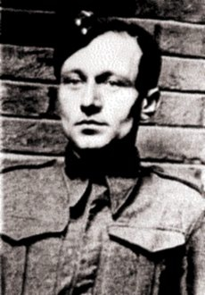 """Karel Svoboda (1912-1982), member of Wolfram group. Warrant Officer Jozef Gabčík and Staff Sergeant Karel Svoboda were chosen to carry out the operation code-named """"Anthropoid"""" on 28 October 1941 (Czechoslovakia's Independence Day). Svoboda was replaced with Jan Kubiš after a head injury during training. Source: Wikipedia"""