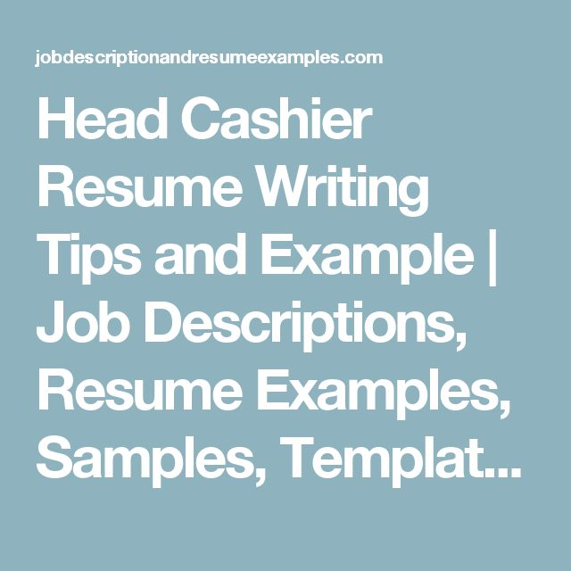 Best 25+ Cashiers resume ideas on Pinterest Artist resume - examples of cashier resumes