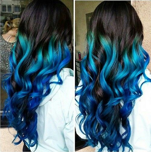 Beautiful blue dyed hair