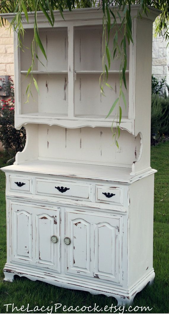 from etsy vintage hutch and buffet in white vintage hutch and buffet