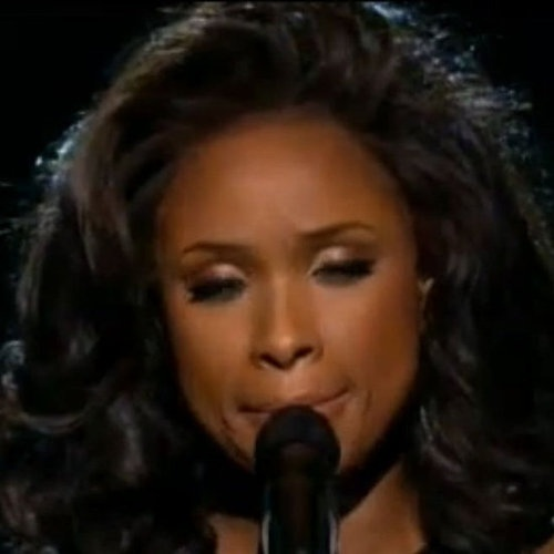 """Jennifer Hudson's beautiful tribute to Whitney - click on photo for song, """"I Will Always Love You"""""""