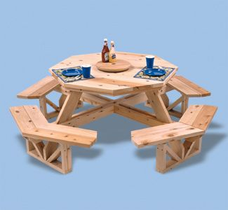 Free Octagon Walk In Picnic Table Plans - WoodWorking Projects & Plans
