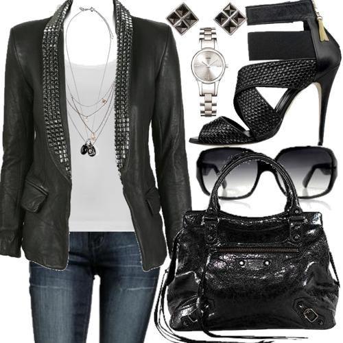 rocker chic | estilo Rock Chic pode ser formado por peças de roupas simples ...