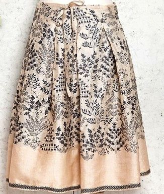 Embroidered skirt by Yooj