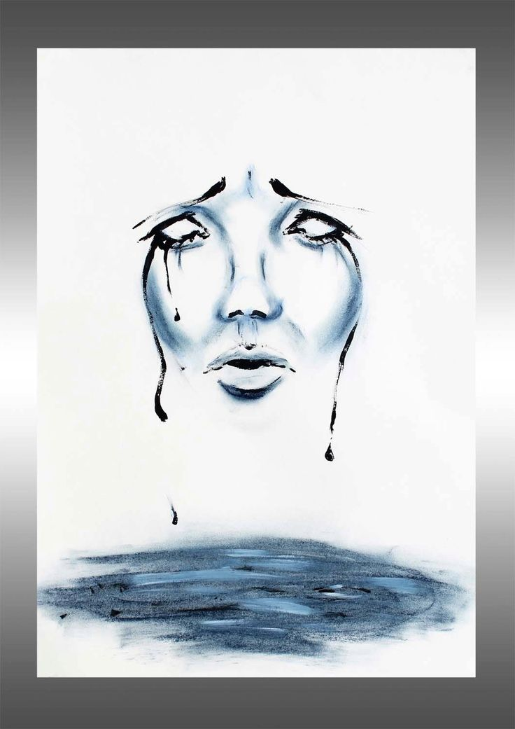 Original pastel crayons - face portrait painting - blue face painting - sadness painting - surreal water art - feelings - tears surreal sensual tears fear sorrow sadness blue black gouache blue face painting face portrait tears painting fashion paintings 78.90 EUR #goriani