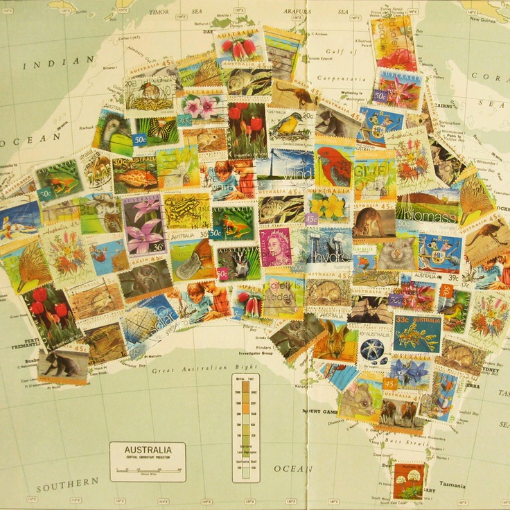 Australia Stamp Map by Lucy King 808