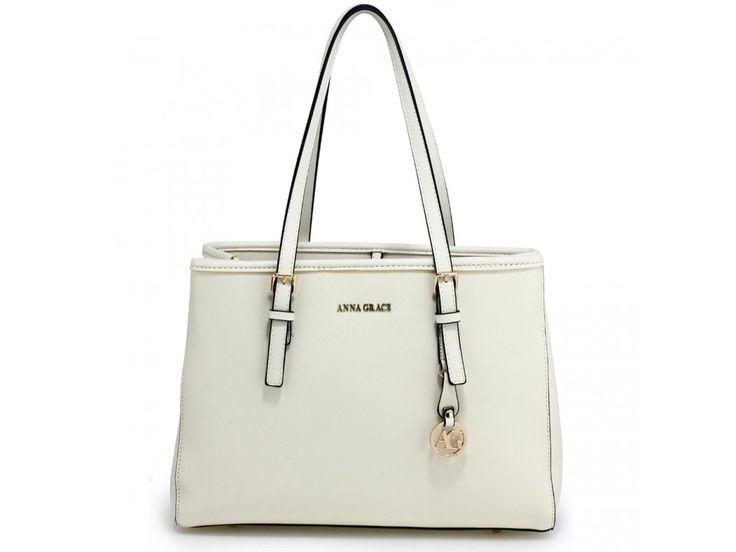 Biela kabelka na rameno Mia AG00571