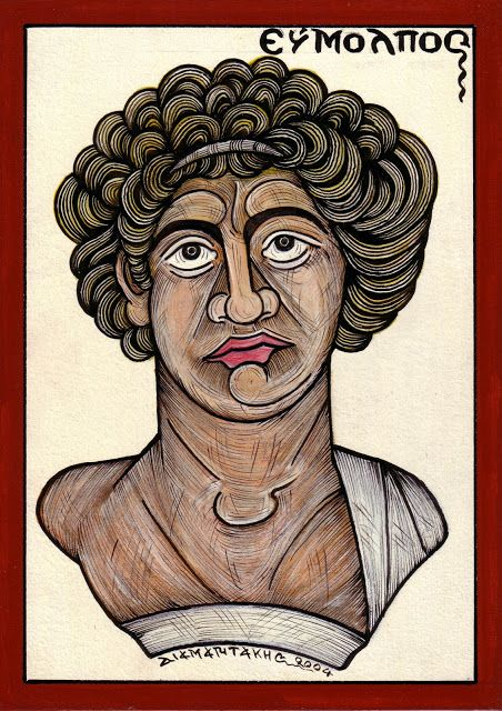 ΕΥΜΟΛΠΟΣ... ήταν ο γενάρχης του ιερατικού γένους των Ευμολπιδών. Ο ίδιος ήταν γιος του θεού Ποσειδώνα και της Χιόνης, εγγονός του Βορέου και της Ωρυθυίας....