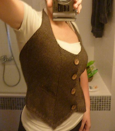waitress waistcoat free pattern