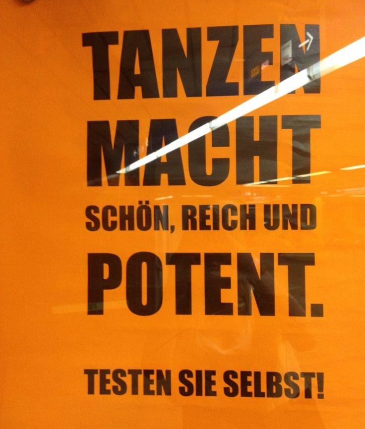 U-Bahn ✌️ tanzen macht schön, reich und potent, funny words, german